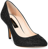 INC International Concepts Zitah Pointed Toe Rhinestone Evening Pumps, Only at Macy's