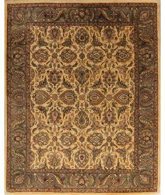One-of-a-Kind Silsden Oriental Handmade Tufted 8' x 10' Wool Beige/Green Area Rug Charlton Home