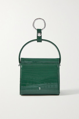 Gu_de Play Mini Croc-effect Leather Tote - Emerald