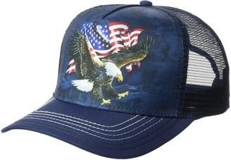 The Mountain Eagle Talon Flag Adult Trucker Hat