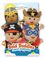 Melissa & Doug Bold Buddies Hand Puppets (Set of 4)