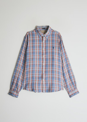Polo Ralph Lauren Men's Double Face Button Up Shirt in Blue/Red, Size Extra Large | 100% Cotton