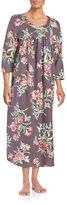 Carole Hochman Printed Flannel Long Gown