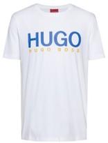 HUGO BOSS - Logo Print T Shirt In Single Jersey Cotton - Open Pink