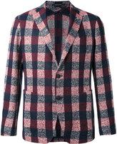 Tagliatore checked blazer - men - Linen/Flax/Polyamide/Cupro - 48