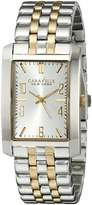 Bulova 45A123 Caravelle New York Men's Quartz Analog Watch with Silver White Dial and Two Tone Stainless Steel Strap