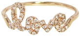 "Sydney Evan Love"" Ring in Rose Gold with Diamonds"