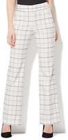 New York & Co. 7th Avenue Pant - Pull-On Bootcut - Modern - Grid Print