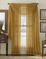 "55""x84"" Sheer Curtain Panel - Gold"