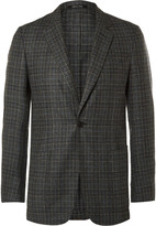 Dunhill - Grey Slim-fit Fitzrovia Checked Wool Blazer