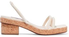 ALEXACHUNG Lizard-effect Leather Platform Slingback Sandals