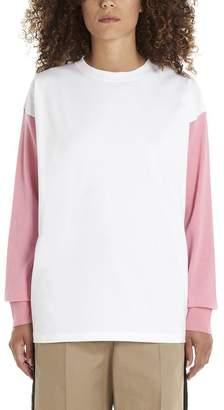 MM6 MAISON MARGIELA Colour Block Logo Long Sleeve T-Shirt