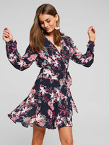 Portmans All Tied Up Floral Wrap Dress