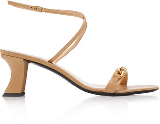 BY FAR Nelly Chain-Detailed Leather Sandals