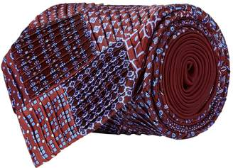Stefano Ricci Silk Pleated Patchwork Tie