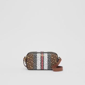Burberry Mini Monogram Stripe E-canvas Camera Bag