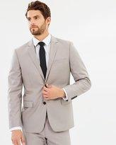 TAROCASH Melnick 2 Button Suit - Pebble - 34