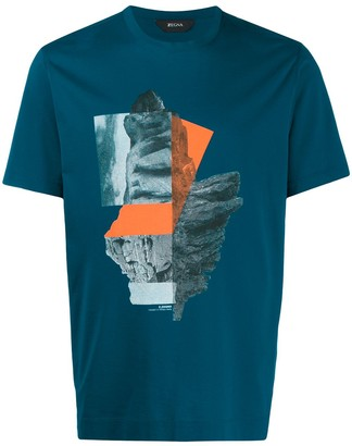 Ermenegildo Zegna abstract print T-shirt