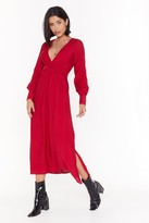 Thumbnail for your product : Nasty Gal Womens V Right Back Plunging Miaxi Dress - Red - 12