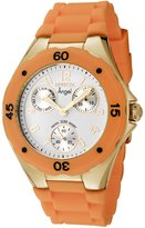 Invicta Women's 0708 Angel Collection Gold-Plated Orange Polyurethane Watch