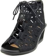 Earth Daylily Women US 8 Black Wedge Sandal
