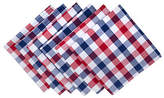 Design Imports Red & Blue Check 6-pc. Napkins