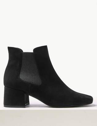 Marks and Spencer Block Heel Square Toe Chelsea Boots