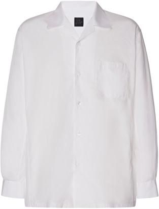 Yohji Yamamoto Cotton-Poplin Open-Collared Shirt
