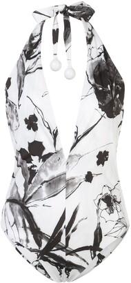 Silvia Tcherassi Gaynor floral print swimsuit