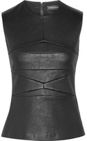 Narciso Rodriguez Paneled Leather Top - Black