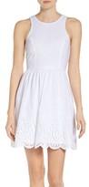 NSR Women's Eyelet Fit & Flare Dress