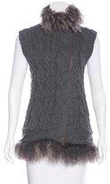 Brunello Cucinelli Fur-Accented Cashmere Vest