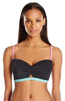 Coco Rave Women's Keep It Cute ) Peek-A-Book Underwire Bikini Top