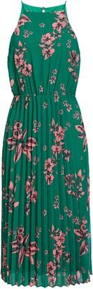 Sam Edelman Floral Pleat Chiffon Midi Dress