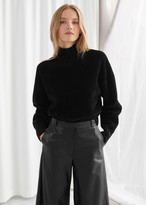 And other stories Boxy Double Knit Turtleneck Sweater