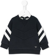 Armani Junior stripe detail sweatshirt