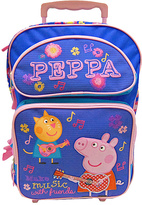 Peppa Pig Purple 'Make Music with Friends' Rolling Backpack