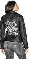 GUESS Women's Roxxane Faux-Leather Jacket