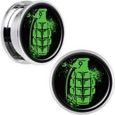 Body Candy Stainless Steel Grenade Screw Fit Plug Set of 2 20mm