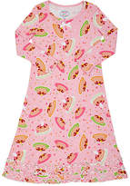 Sara's Prints PANCAKE-PRINT COTTON-BLEND NIGHTGOWN