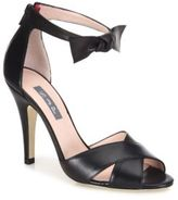 Sarah Jessica Parker Buckingham Bow Leather Sandals