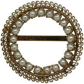 One Kings Lane Vintage Austrian Filigree Faux-Pearl Brooch