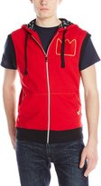 Akademiks Men's Duane French Terry Sleeveless Hoodie