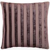 """Hallmart Collectibles Purple Stripe Jacquard 18"""" Square Decorative Pillow"""