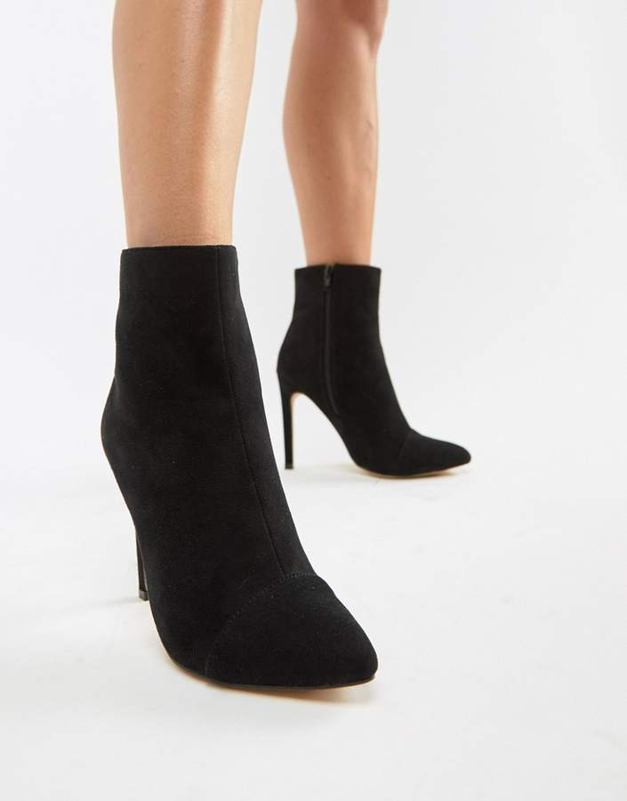 London Rebel Stiletto Ankle Boots