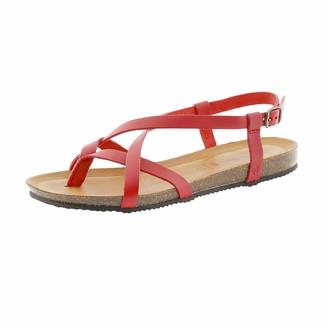 BearPaw Women's Lucia Ankle Strap Sandals Grey (Gray Ii (055) Gray Ii (055) 9 UK