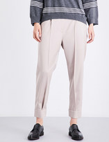 Brunello Cucinelli Cuffed tapered stretch-wool trousers