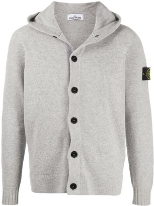 Stone Island Hooded Button-Down Cardigan