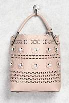 Forever 21 FOREVER 21+ Daisy Faux Leather Shoulder Bag