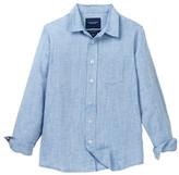 Toobydoo Gilbert Chambray Striped Dress Shirt (Toddler, Little Boys, & Big Boys)